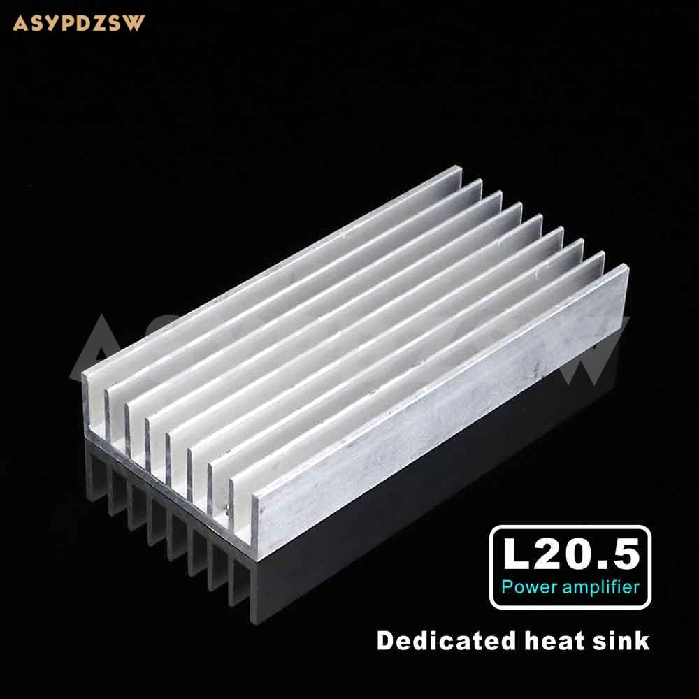 1 pcs l20 5 mono power amplifier dedicated heat sink full aluminum silver e heatsink in. Black Bedroom Furniture Sets. Home Design Ideas