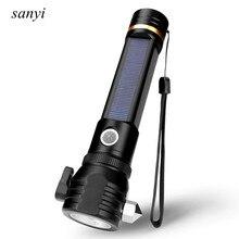 Multifunction Solar Flashlight USB/Solar Dual Charging Mode