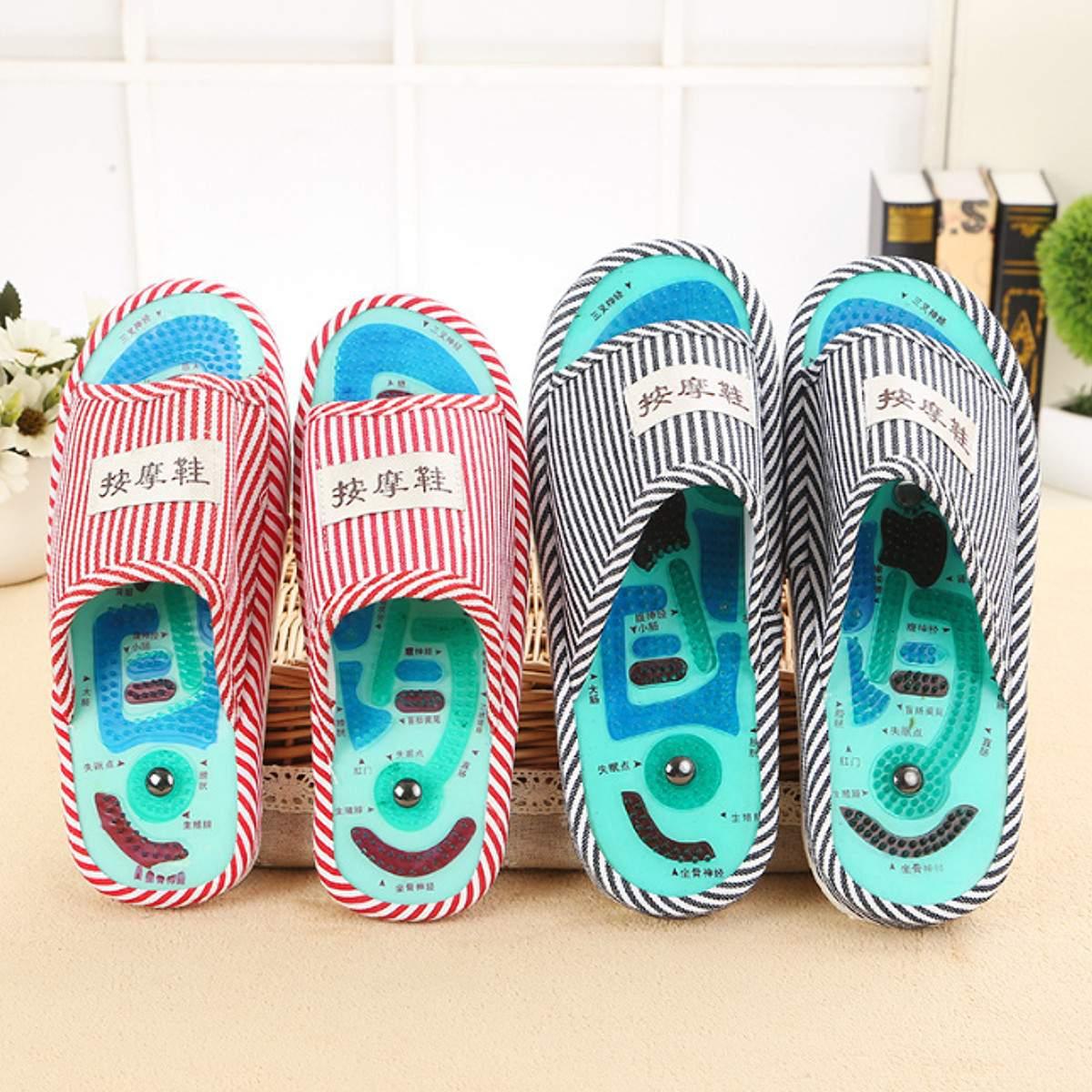 1 Paar Ssential Gesundheit Pflege Taichi Akupunktur Massage Hausschuhe Hohe Qualität Männer Der Fuß Massage Hausschuhe Mit Magnet Hause Schuhe
