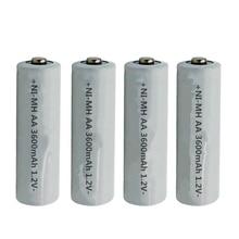 2PCS/LOT 1.2V AA3600mAh NI MH AA Pre-Charged Rechargeable Batteries Ni-MH Rechargeable aa Battery For Toys Camera Microphone цена