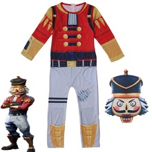 zlkoe Children's cos costume for Christmas Carnival and adult walnut soldier Costume