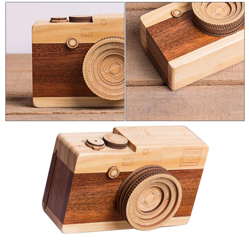 Ingenious 1 Pc Kids Adult Wooden Music Retro Camera Design Classical Melody Birthday Home Decoration Gift Toys For Boys Girls Hot Sale 50-70% OFF