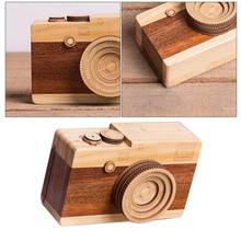 1 Pc Kids Adult Wooden Music Retro Camera Design Classical Melody Birthday Home Decoration Gift Toys For Boys Girls(China)