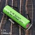 1 2 в AA Аккумуляторная батарея 2200 мАч для Philips HQ7120 HQ7110 HQ560 HQ6675 HQ5812 RQ338 HQ662 HQ482 HQ483 бритва