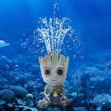 Прекрасный мини-дерево аквариумный аквариум Декор кислородный насос воздушный пузырьковый камень воздушный насос привод игрушка аквариумный орнамент Декор