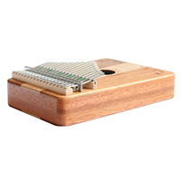 Flanger 17 C Key Finger Kalimba Mbira Thumb Pocket Size Beginners Piano Support Bag Marimba Keyboard Wooden Musical Instrument
