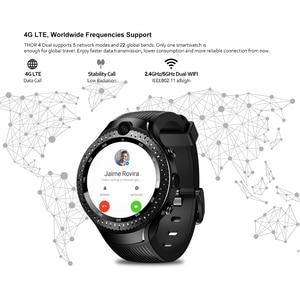 Image 3 - ساعة Zeblaze THOR الذكية المزدوجة 4G LTE, أندرويد رباعية النواة 1 جيجا بايت + 16 جيجا بايت ، كاميرا مزدوجة 1.4 بوصة AOMLED GPS/GLONASS واي فاي معدل ضربات القلب ، ساعة ذكية