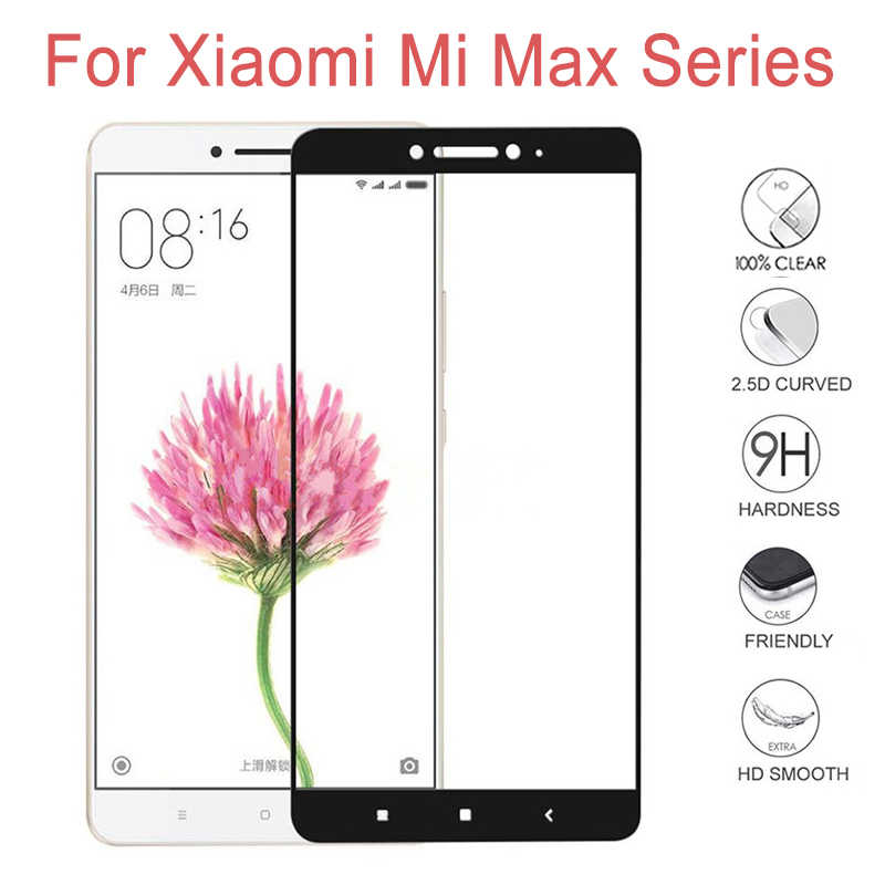 Tempered Glass For Xiaomi Mi Max 1 2 3 MiMax MIMax2 Max2 Max3 MIMax3 xiami xiomi xiaomei glass screen Protector Protective Film