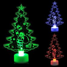Christmas Gift Creative 3D Snown man Night Light 7 Colors LED Lamp Decoration Light Table Desk Lamp Atuo  Rainbow Color Change