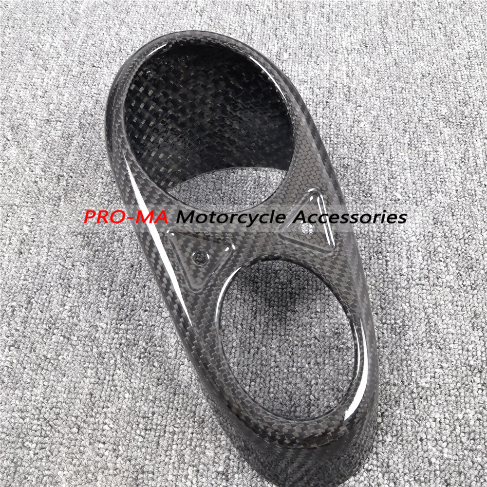 Motorcycle Exhaust End Cap in Carbon Fiber for Honda CB1000R 2018 Twill