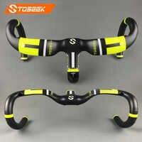 new style full carbon fiber road bike integrated handlebar bent handlebar UD 400/420440*90/100/110/120mm bike parts balck green