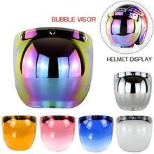 New Men Women Open Face Motorcycle font b Helmet b font Bubble Visor Lens Motorbike Glasses