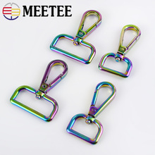 Meetee 2/4pc 19/32mm Metal Bag Strap Buckles Clasp Clip Trigger Swivel Lobster Dog Snap Hook DIY Handbag LeatherCraft Accessory
