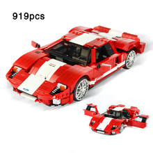 Red Phantom F50 Race Car Model Famous compatible legoinglys Creative Assemble Building Blocks Toys For Children Gift