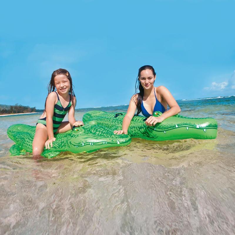 Big Size Zomer Water Drijvende Rij Opblaasbare Luchtbedden Zwembad Bed Mat Zwembad Water Leuk Speelgoed Zwemmen Props voor kids