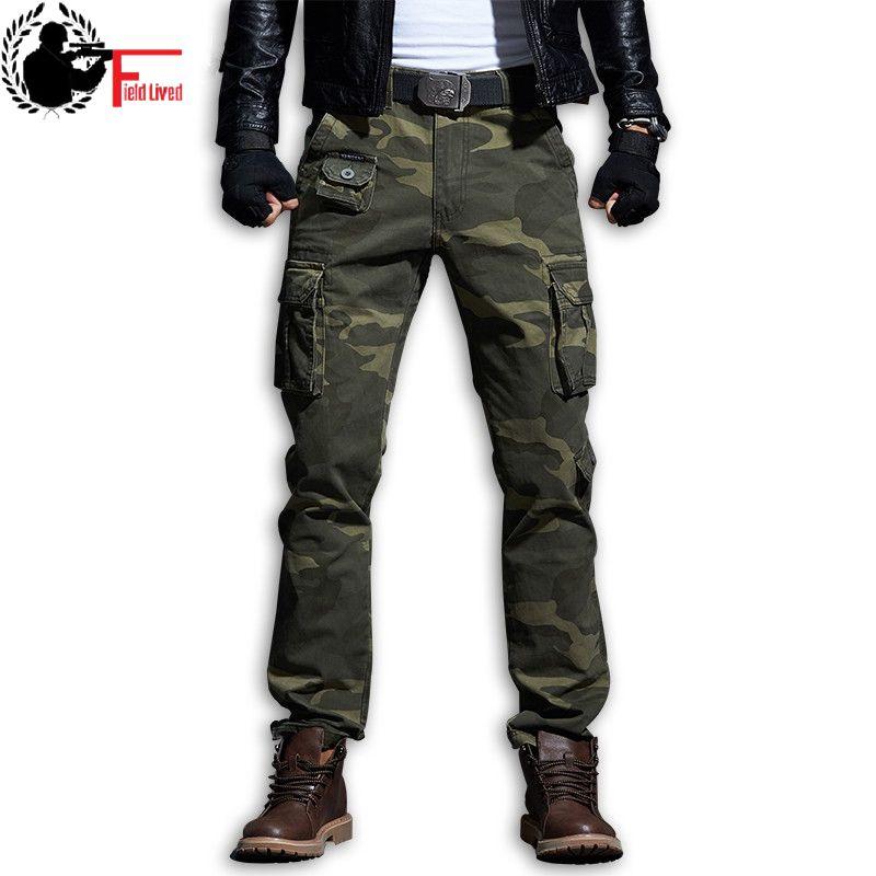 Autumn men black hip hop punk harem pants with big pockets ribbons korean men slim fit