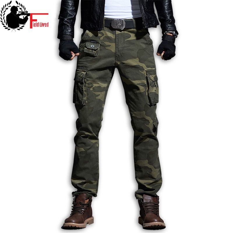2019 Cotton Army Urban Clothing Camouflage Men Military Style Pocket Tactical Cargo Pants Long Length Male Combat Camo Trousers