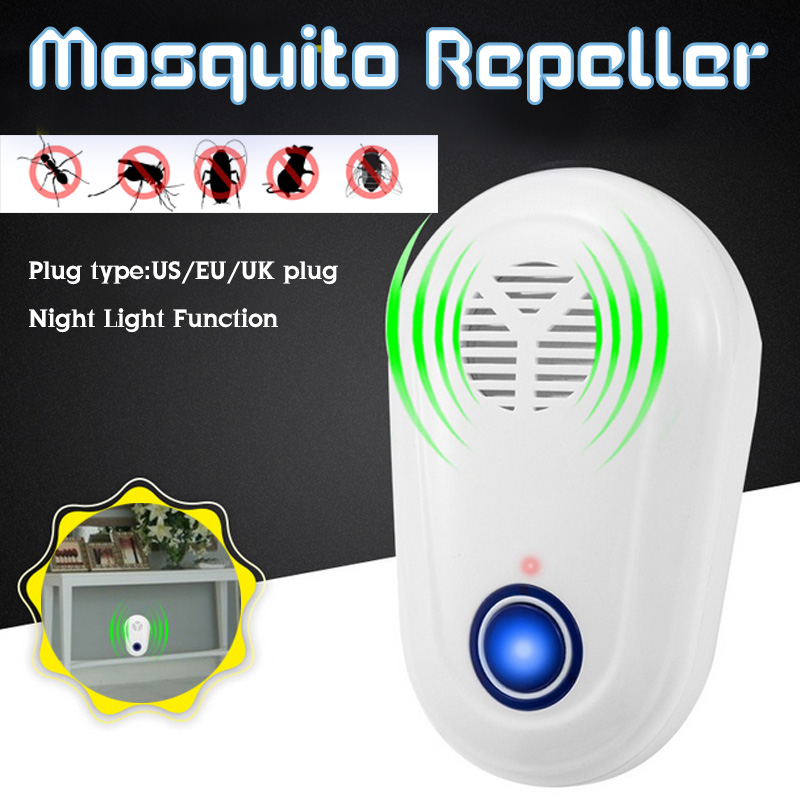 Ultrasonic Pest Repeller Insect Repellent Anti Moles Mosquito Killer Mouse Cockroach Rat Home Living Room With Night Light-in Repellents from Home & Garden