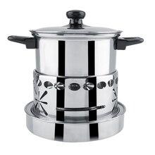 Толстая нержавеющая сталь горячий горшок посуда немагнитная спиртовая плита кухонные принадлежности для приготовления пищи инструмент