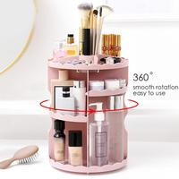Cosmetic Storage Rack Rotation Dressing Table Shelf Multiple Compartments Cosmetic Storage Stand Holder