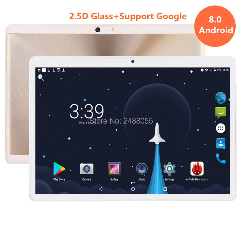 2019 New 10 Inch Tablet PC Octa Core 4GB RAM+64GB ROM Dual SIM Cards Android 8.0 GPS 3G 4G FDD LTE Tablet PC 10 10.1