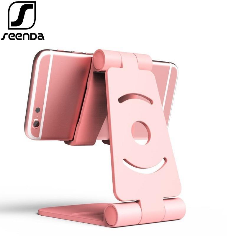 SeenDa Universal Adjustable Mobile Phone Holder For iPhone Huawei Xiaomi Plastic Phone Stand Desk Tablet Folding Stand Desktop