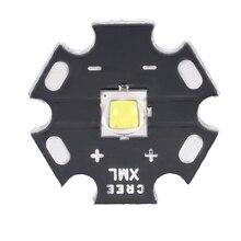 1pc Durable Cree XM-L2 LED U3 Bin 10W 3A 1260lm Neutral White Light LED Emitter Diode Chip with 20mm Star PCB Base for DIY xml xm l t6 led 10w white high power led emitter diode chip beads with 16mm 20mm pcb for led headlamp diy flash light