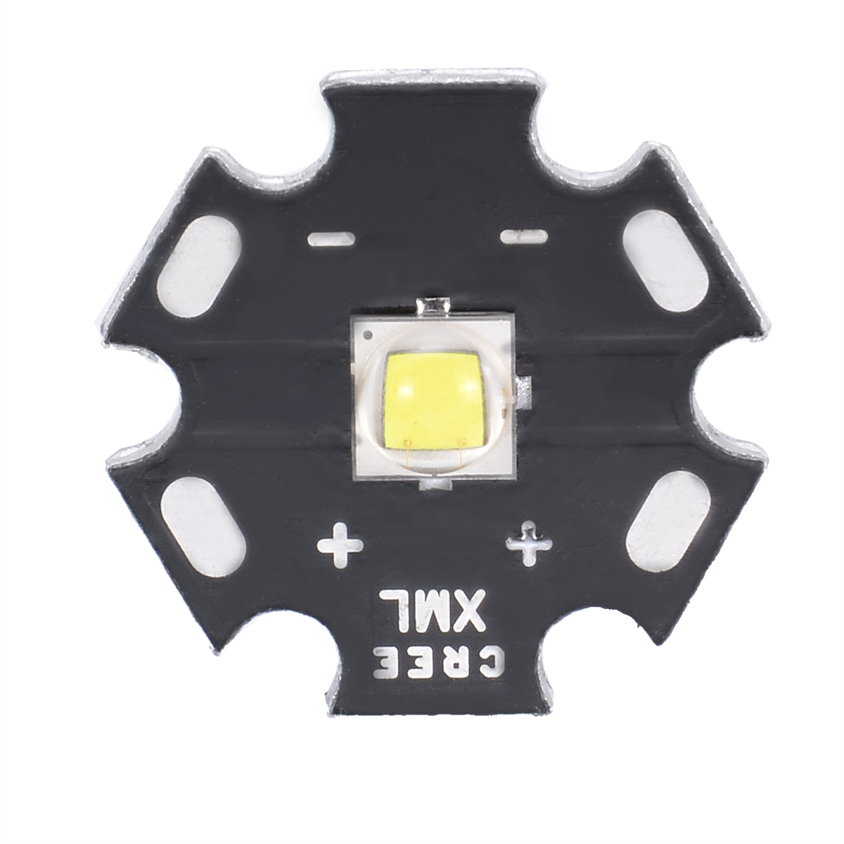 1pc Durable <font><b>Cree</b></font> XM-<font><b>L2</b></font> <font><b>LED</b></font> <font><b>U3</b></font> Bin 10W 3A 1260lm Neutral White Light <font><b>LED</b></font> Emitter Diode Chip with 20mm Star PCB Base for DIY image