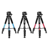 Q111 Professional Portable Travel Aluminum Camera Tripod Quick Release Pan Head for SLR DSLR Digital Camera