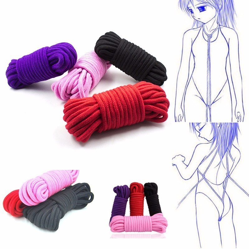 5M 10M SM Rope SM Bondage Rope Bdsm Sex Product For Adult Femdom Bondage Sex Cotton Rope For Women Couples's Game Chastity Belt