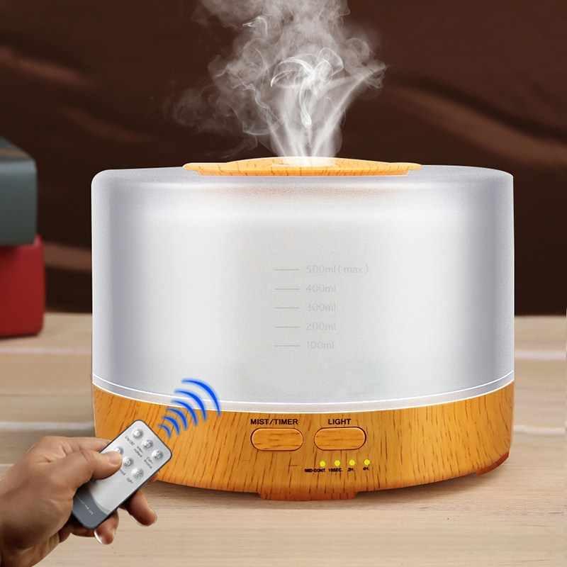 Humidificateur d'air à ultrasons 500Ml télécommande diffuseurs d'huile essentielle lumière LED arôme brumisateur fabricant aromathérapie brumisateur atomiseur