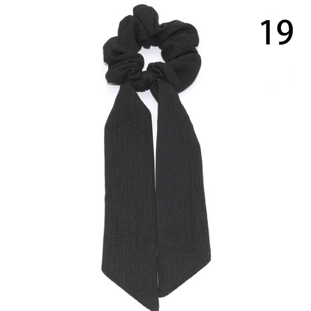 Bohemian Chấm Bi In Hoa Nơ Tóc Scrunchies Nữ Thun Tóc Khăn Choàng Tóc Dây Dây Bé Gái Phụ Kiện Tóc