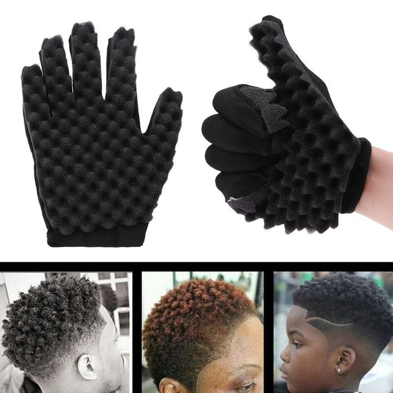 Модная губка для волос, расческа-щетка для локон, губка для волос, перчатка-инструмент для укладки волос