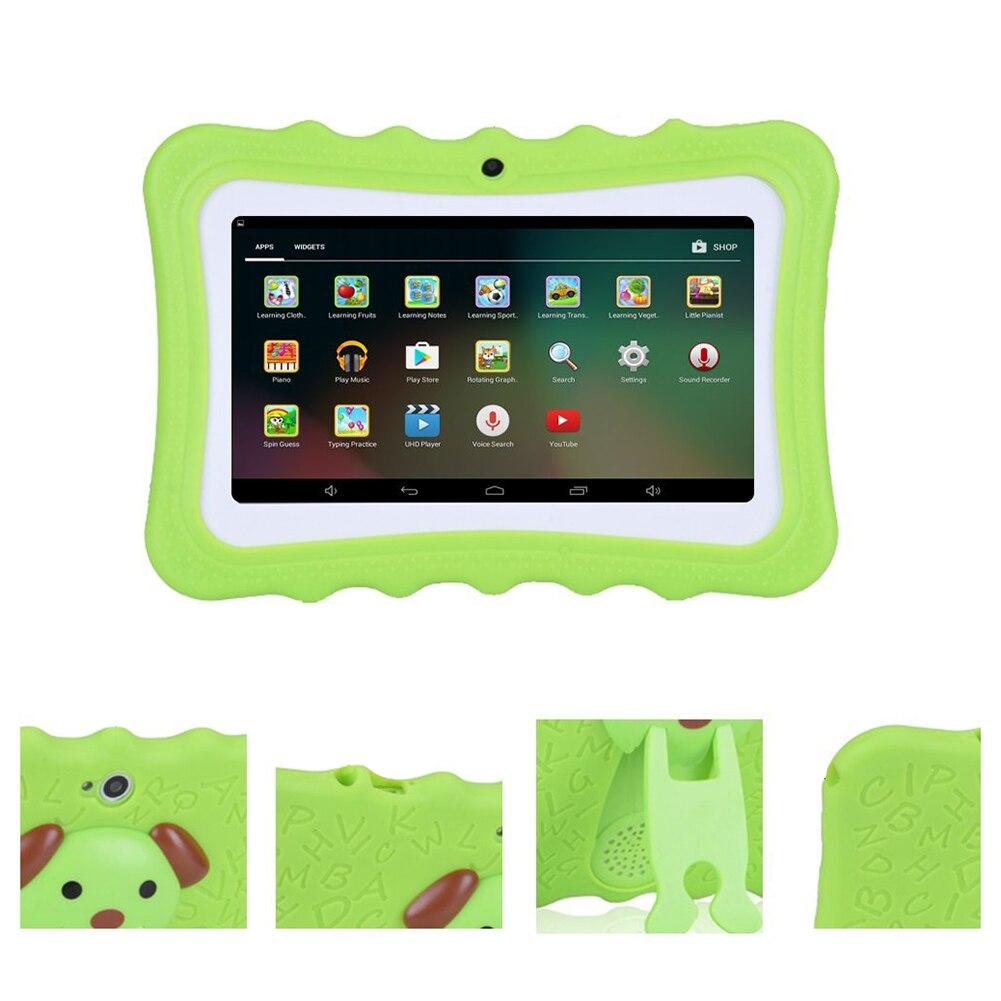 Machine d'apprentissage pour enfants tablette meilleur cadeau pour les enfants 7 pouces HD avec coque en silicone charge USB (Quad Core, 8 GB, Wifi et bleu - 4