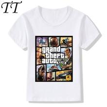 7a252dc130776 2019 enfants GTA Street Fight Long avec GTA 5 T-Shirts enfants été hauts  garçons filles à manches courtes vêtements bébé t-shirt.