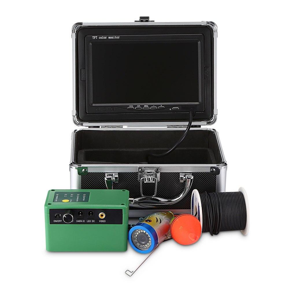 1000TVL подводный Рыболокаторы 145 градусов Рыбалка Камера HD 7 дюймов TFT Дисплей инфракрасный Камера 4500 мАч Перезаряжаемые Fishfinder