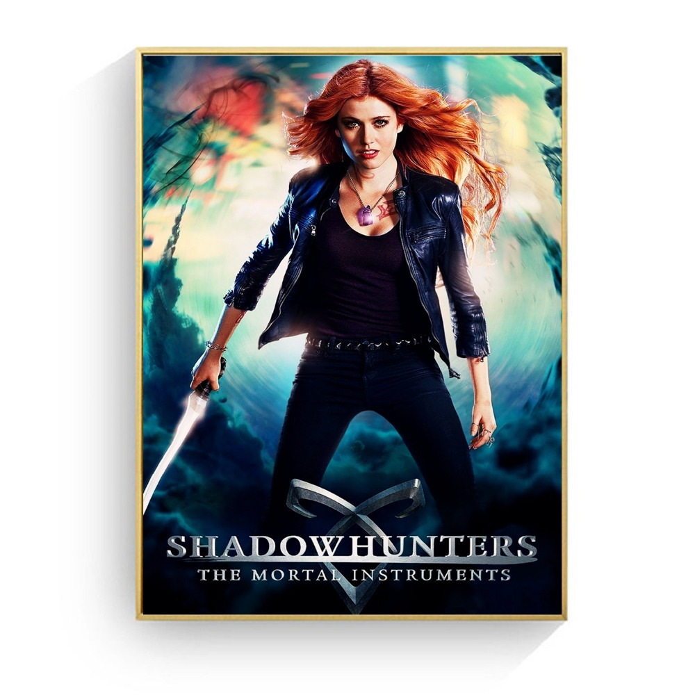 Shadowhunters The Mortal Instruments Posters And Prints Canvas Art Painting Wall Pictures For Living Room Decoration Home Decor in Painting Calligraphy from Home Garden