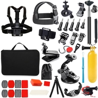 65 in 1 Action Camera Accessories Kit for GoPro Hero 2018 GoPro Hero6 5 4 3 Carrying Case/Chest Strap/Octopus Tripod