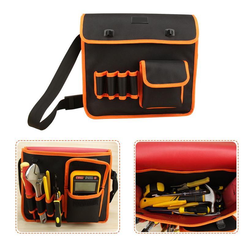 Shoulder Canvas 35CM Large Multi-Function Repair Hardware Tool Shoulder Bag Electrician Tool Kit Storage Bag
