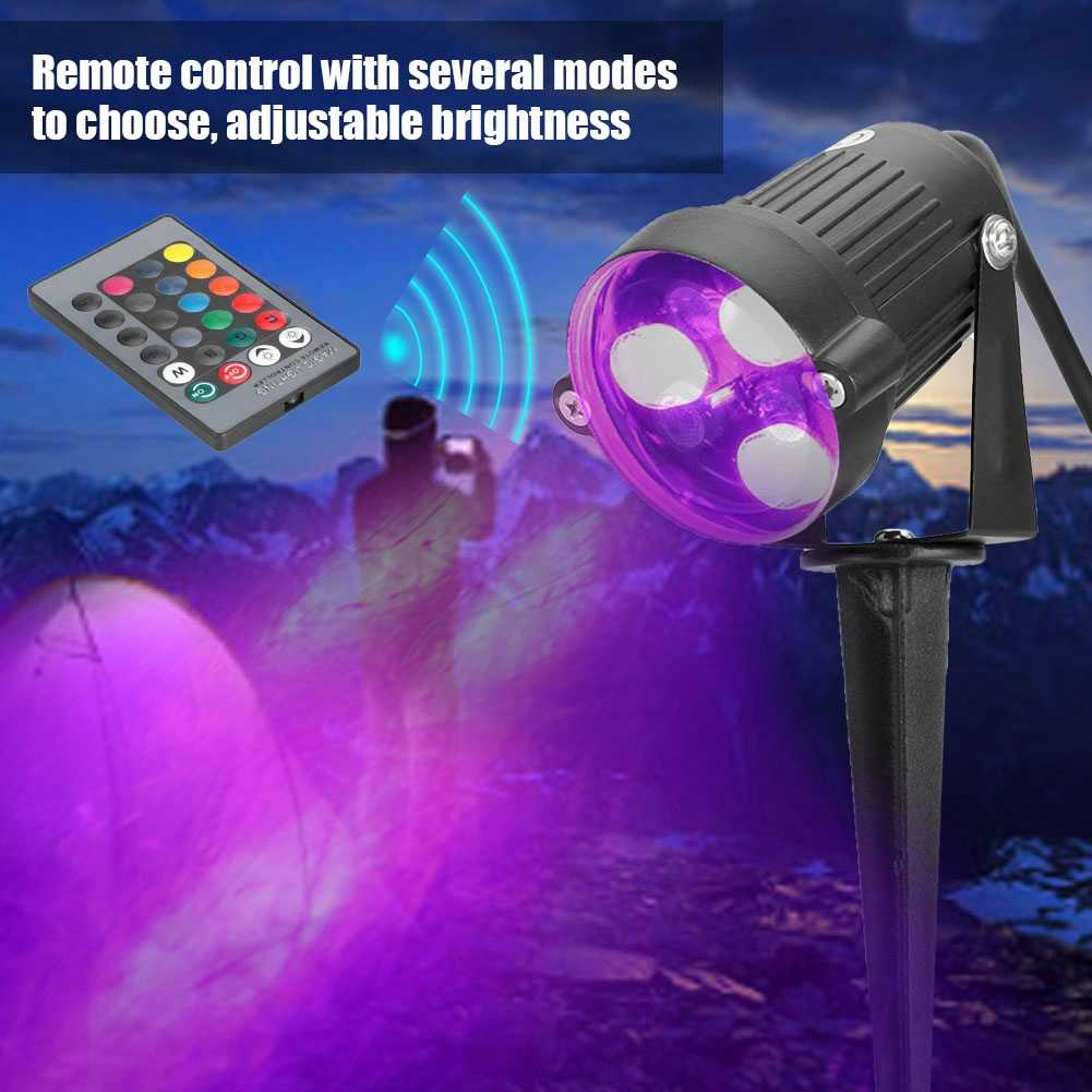 США Plug AC85-265V садовый фонарик с защитой от воды светодиодный свет сада Открытый RGB газон для дома и сада tuinverlichting lampy ogrodowe