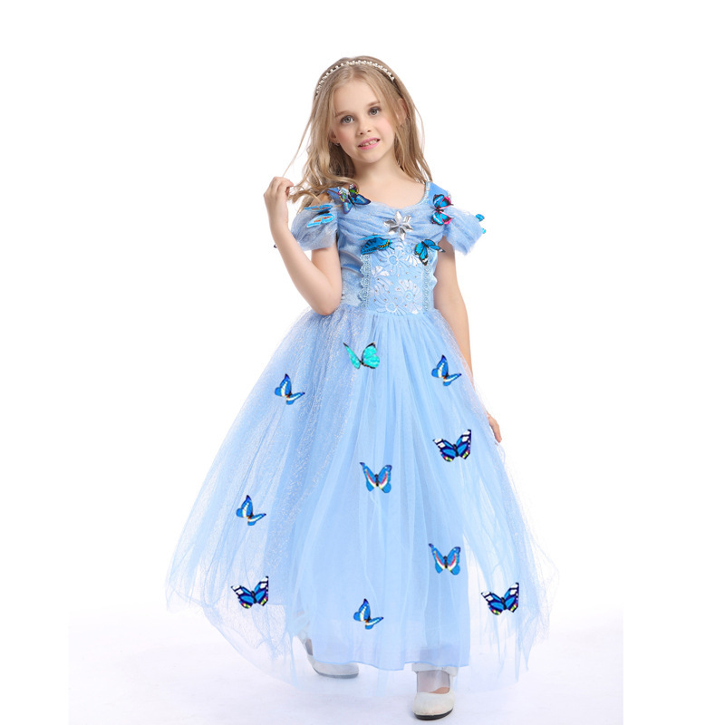 Baby Girls Princess Cosplay Costume Princess Butterfly Party Fancy Dress For Childrens Kids Dresses Clothing Masquerade
