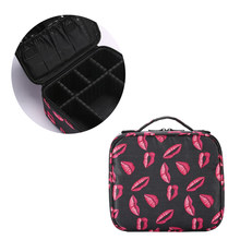 Makeup Brush Cosmetic Bag Partition Cosmetic Bag Travel Bag Storage Bag Make Up Tool For Tattoo Nail Polish Holder(China)