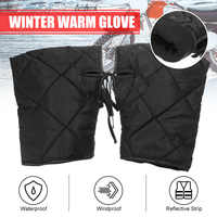 Waterproof Motorcycle Handlebar Gloves with Reflective Strip Windproof Thicken Muffs Winter Warm Scooter/Motorcycle Hand Gloves