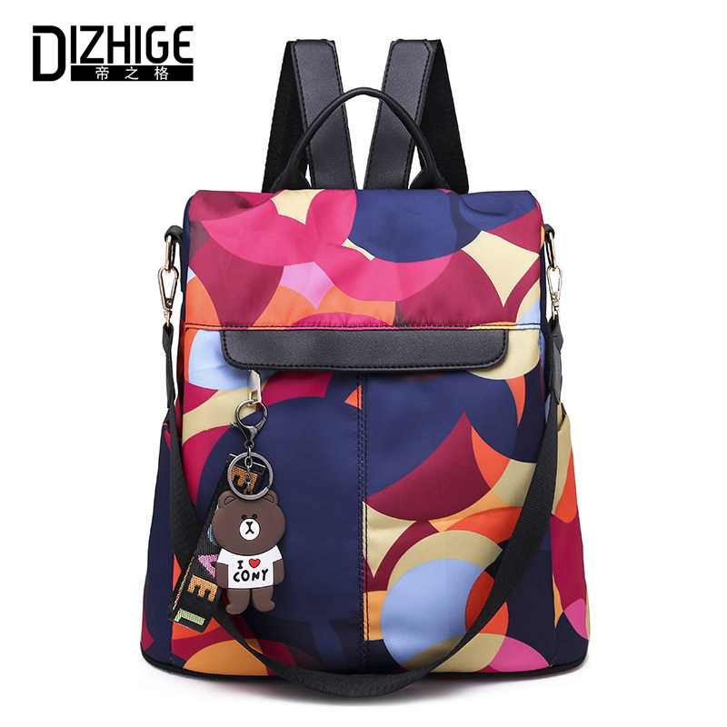 DIZHIGE Brand Multifunction Backpack Women Oxford Bagpack Female Anti Theft School Bag For Teenager Girls Sac A Dos