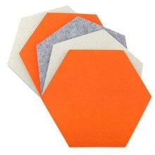5 шт./компл. шестиугольник потолков звуковая карта с шестигранной головкой горячий продавать чувствовал держатель карты Стикеры Многофункциональный 3D декоративные доски для записей самоклеящийся детской комнаты
