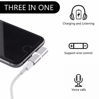 2 in 1 Splitter For Lightning Audio Charging Adapter For iPhone 7 8 Plus/X Headphone Splitter Adapter Converter 1