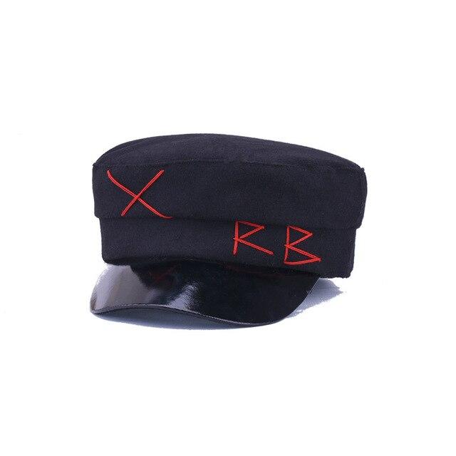1eb75dea12f25 2018 Hairy Winter Hats Women Fashion Berets Hats for Girls Street Style  Beret Caps Women Brand Hat Military Cap Black Flat Caps