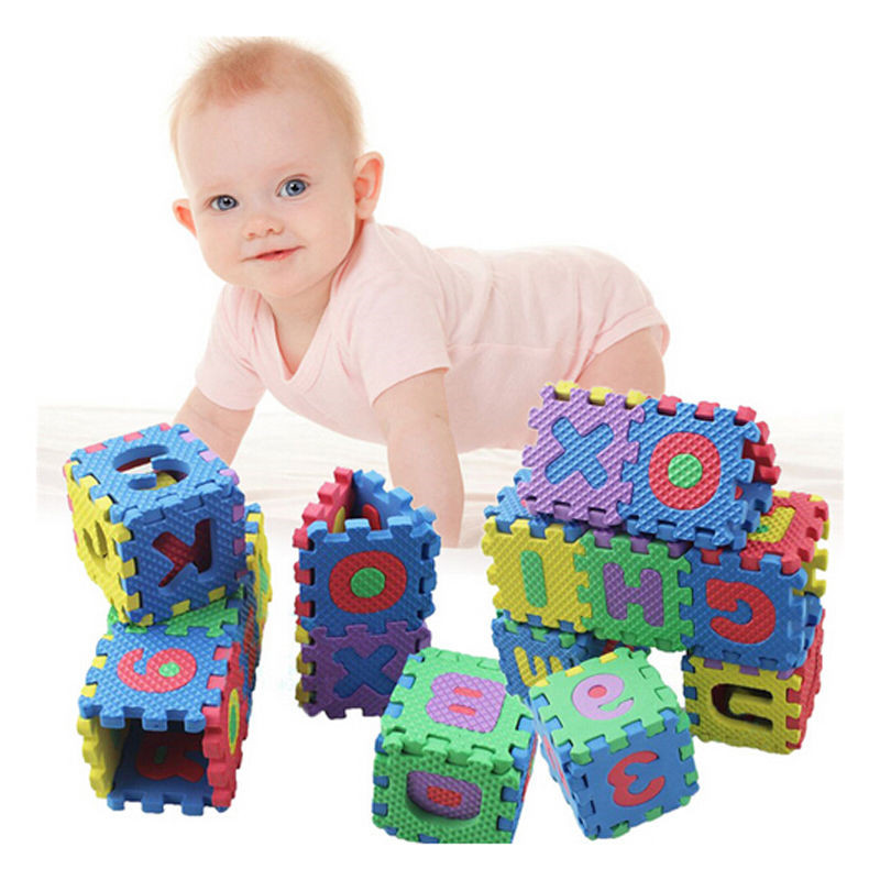Kids Baby Alphabet Letter Number Foam Exercise Floor Puzzle Baby Play Mat Flooring Tile Activity Gear Baby Gym Playmats Hot Sale