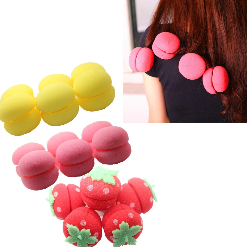 6pcs Soft Curl Balls Set Hair Curler Styling Tools Mousse Hair Rollers Foam Sponge Styling Tool Hairdressing Accessories Kits