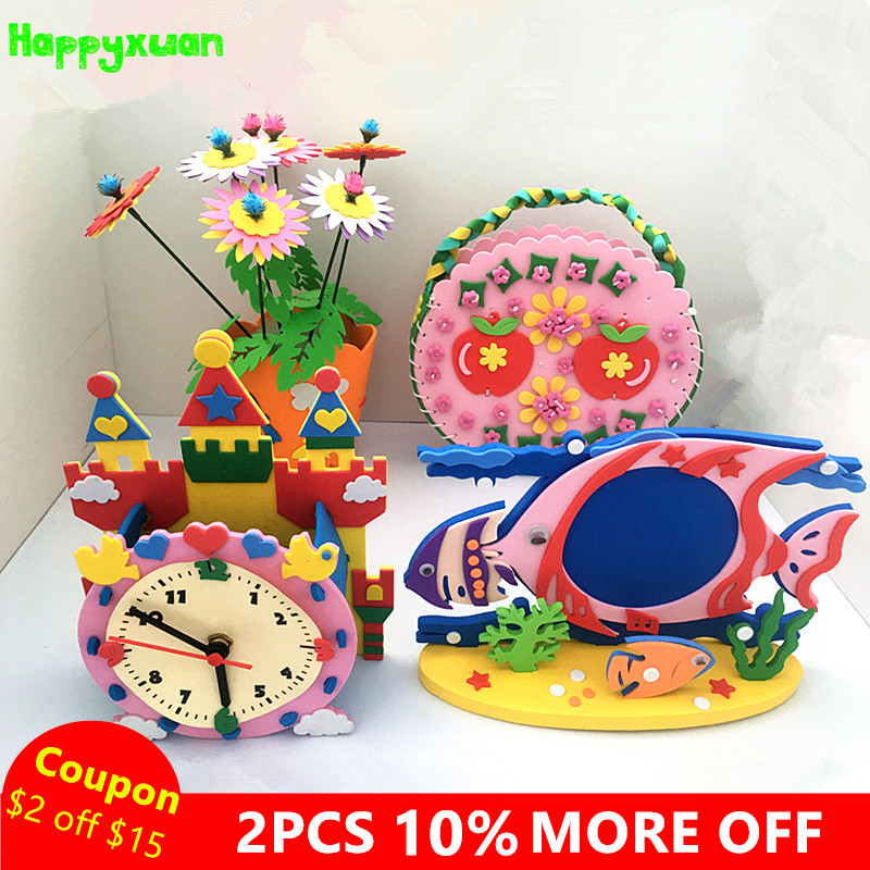 Happyxuan 4pcslot Diy Art And Craft Kits Material For Children Eva
